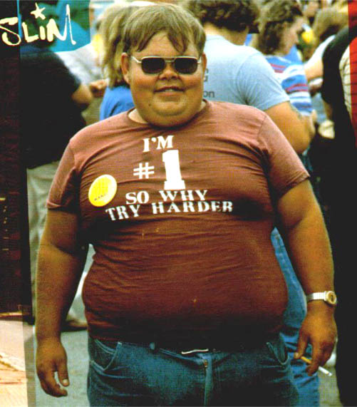 Gordo só faz gordice!